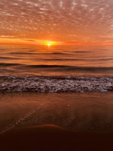 Tramonto toscano al mare